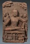 """Image of """"Buddha in Abhaya Mudra, Ahichchhatra, Uttar Pradesh, India, Kushan dynasty, ca. 1st century(Photographs (c)Indian Museum, Kolkata)"""""""
