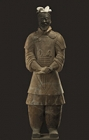 """Image of """"Pottery figure of general, Qin dynasty, 3rd century BC, Emperor Qinshihuang's Mausoleum Site Museum"""""""