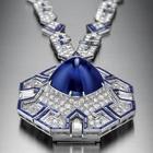 『ソートワール(部分) プラチナ、サファイア、ダイヤモンド 1969年』の画像