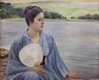 "Image of ""Lakeside, By Kuroda Seiki, 1897 (Important Cultural Property)"""