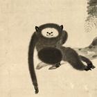 "Image of ""Monkey (detail), By Kano Sansetsu, Edo period, 17th century (Gift of Ms. Uematsu Kayoko)"""