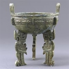 "Image of ""Bianzu Ding Cooking Vessel, Western Zhou dynasty, 11th-10th century BC (Lent by the Shanghai Museum)"""