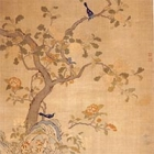 "Image of ""Tapestry, Flower and bird design (detail), Qing dynasty, 18th century (Lent by the Shanghai Museum)"""