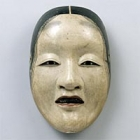 "Image of ""Noh Mask, Shakumi type, With branded mark ""Tenkaichi Zekan"", Formerly owned by the Konparu troupe, Azuchi-Momoyama - Edo period, 16th - 17th century (Important Cultural Property)"""