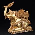 "Image of ""Miniature Elephant, Ayutthaya, Early 15th century, Chao Sam Phraya National Museum"""