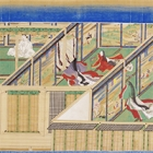"""Image of """"Illustrated Scrolls of Kasuga Shrine (Kishu version), Vol. 3, Copied by Reizei Tamechika and others, Edo period, dated 1845 (On exhibit through February 12, 2017)"""""""