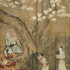 "Image of ""Merrymaking under Blossom Trees(detail), By Kano Naganobu, Edo period, 17th century (National Treasure)"""
