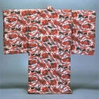 """Image of """"Bingata Garment with Peony Design on White Cotton, Second Sho dynasty, Ryukyu kingdom, 19th century *The Original artifact will be on display from July 25th to September 3rd 2017 in Gallery 16 of the Honkan (Japanese Gallery)."""""""