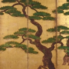"Image of ""Pine Trees (detail), Muromachi period,16th century (Important Cultural Property)"""