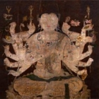 """Image of """"Cundibhagavati (detail), Formerly preserved at Shoren'in, Heian period, 12th century (Important Cultural Property)"""""""
