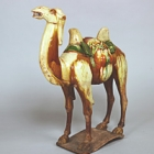 """Image of """"CamelThree-color glaze, China, Tang dynasty, 7th–8th century"""""""