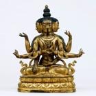 『仏頂尊勝母坐像 中国 清時代・17~18世紀』の画像