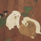 『朝顔狗子図杉戸(部分) 円山応挙筆 江戸時代・天明4年(1784)』の画像