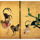 "Image of ""Cactus and Domestic Fowls (detail), by Ito Jakuchu, Edo period, 18th century (Important Cultural Property, Lent by Saifukuji, Osaka)"""