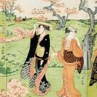 "Image of ""Cherry Blossom Viewing at Asukayama (detail), By Torii Kiyonaga, Edo period, 18th century"""