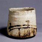 """Image of """"Tea Bowl, Known as """"Hashi hime"""", Mino ware, Shino type, Azuchi-Momoyama - Edo period, 16th-17th century (Gift of Mr. Matsunaga Yasuzaemon)"""""""
