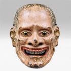 """Image of """"Noh Mask, Purportedly yamanba type, Attributed to Shakuzuru, Nanbokucho period, 14th century (Important Cultural Property)"""""""