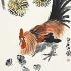 """Image of """"Chickens and Chrysanthemum (detail), By Qi Baishi (Lent by Beijing Fine Art Academy)"""""""