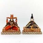 """Image of """"Hina Dolls, Gekubi (ivory head) type, Edo period, ca. 1850 (Gift of Mrs. Mitani Tei)"""""""