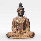 """Image of """"Seated Amida Nyorai (Amitabha) with Jeweled Crown, Kamakura period, 12–13th century (Aichi, Zaikaji)"""""""