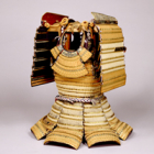 """Image of """"Haramaki Type Armor, With red and white lacing and gold plates, Azuchi-Momoyama period, 16th century (Important Art Object)"""""""