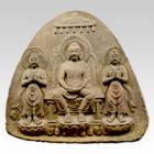 "Image of ""Healing Buddha Yakushi Triad (Purportedly), Asuka to Nara period, 7th–8th century (Ishii-dera Temple, Nara Prefecture, Important Cultural Property)"""