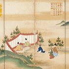 """Image of """"Scenes from Yuki Province for the Grand Thanksgiving Festival of 1764, Scenes of the first and second months, Edo period, dated 1764 (on exhibit through December 1, 2019)"""""""