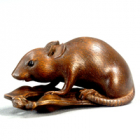 """Image of """"Toggle (Netsuke) in the Shape of a Mouse with Beans, Meiji era, 19th century (Gift of Mr. Ueda Reikichi)"""""""