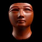 『王像頭部 赤碧玉 エジプト 前1473~前1292年頃』の画像
