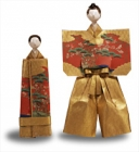 """Image of """"Standing Hina Doll, Jirozaemon-type Heads, Edo period, 18th century"""""""