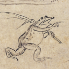 "Image of ""Frolicking Animals, Volume 1 (detail), Heian period, 12th century (Kosan-ji, Kyoto)"""