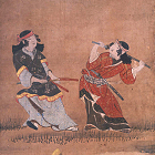 "Image of ""Amusements under the Blossoms (detail), By Kanō Naganobu, Edo period, 17th century (National Treasure)"""
