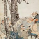 "Image of ""아홉 노인(부분) 임이 중국 청시대, 1883년"""