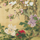 "Image of ""Birds and Flowers of the Four Seasons (detail)By Wang Gang, China, Qing dynasty, 18th century"""