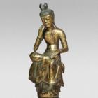"Image of ""Bodhisattva with One Leg Pendant, Found on Mount Nachi, Wakayama Asuka period, 7th century (Gift of Mr. Kitamata Tomeshirō others)"""