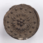 """Image of """"Roof Tile with a Double-Petaled Lotus FlowerFound at Tōdai-ji Temple, Nara, Nara period, 8th century"""""""