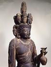 "Image of ""Standing Eleven-headed Kannon (detail), National Treasure, Doganji Kannondo, Kogenji, Shiga [On Exhibit November 7 - December 3, 2006]"""