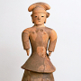 """Image of """"Important Cultural Property: Tomb Sculpture (""""Haniwa""""): Woman in Formal Attire"""""""