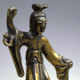 """Image of """"Gilt Bronze Buddhist Statues, Halos and Repoussé Buddhist Images"""""""