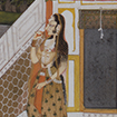 Lady in Pavilion Watching Approaching Storm, Kishangarh school, India, Second half of 18th century