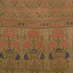 Sash, brocade with gold threads, Flowersand scrolling plants on gold ground, 17th century