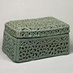 Box, Arabesque design in openwork with celadon glaze, Korea, Goryeo dynasty, 12th century