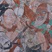 Musicians, Cave 33, Bezeklik Grottoes, China, Gaochang Uighur period, 10th - 11th century, Otani collection