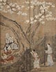 Merrymaking Under Blossom Trees (detail)<br /> By Kano Naganobu, Edo period, 17th century (National Treasure)<br /> March 17 - April 12, 2015