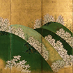 Mount Yoshino (detail)<br /> By Watanabe Shiko, Edo period, 18th century (Private collection)<br /> March 10 - April 19, 2015