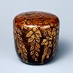 Tea Caddy, Drooping cherry design in <i>maki-e</i> lacquer<br /> Edo period, 17th century (Gift of Mr. Hirota Matsushige)<br /> February 24 - April 19, 2015