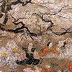 重要文化財 月次風俗図屛風(部分) 室町時代・16世紀 [2017年3月22日(水)~4月23日(日)、本館3室]