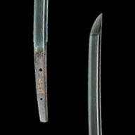 9. 刀(金象嵌銘 本阿(花押) 左)