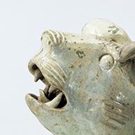 <i>Dog, Green glaze</i>, Eastern Han dynasty, 2nd–3rd century (Gift of Mr. Takeyoshi Michikazu)