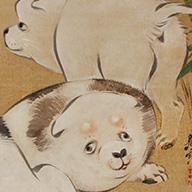 <i>Puppies</i>, By Shibata Zeshin, Meiji era, 19th century